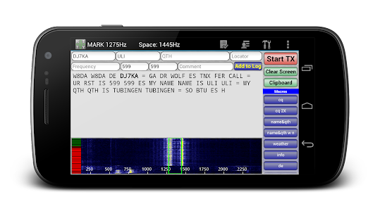 DroidRTTY - RTTY for Ham Radio - screenshot thumbnail