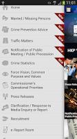 Screenshot of Hong Kong Police Mobile App