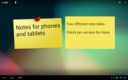 Notes Widget HD Free Stickies – miniatureskærmbillede