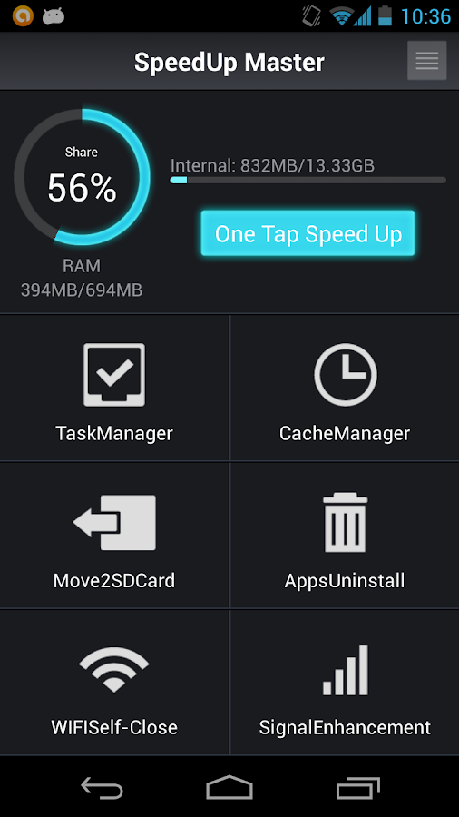 SpeedUpMaster TaskClear[Free]- screenshot