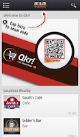Screenshot of Qkr!™ with MasterPass