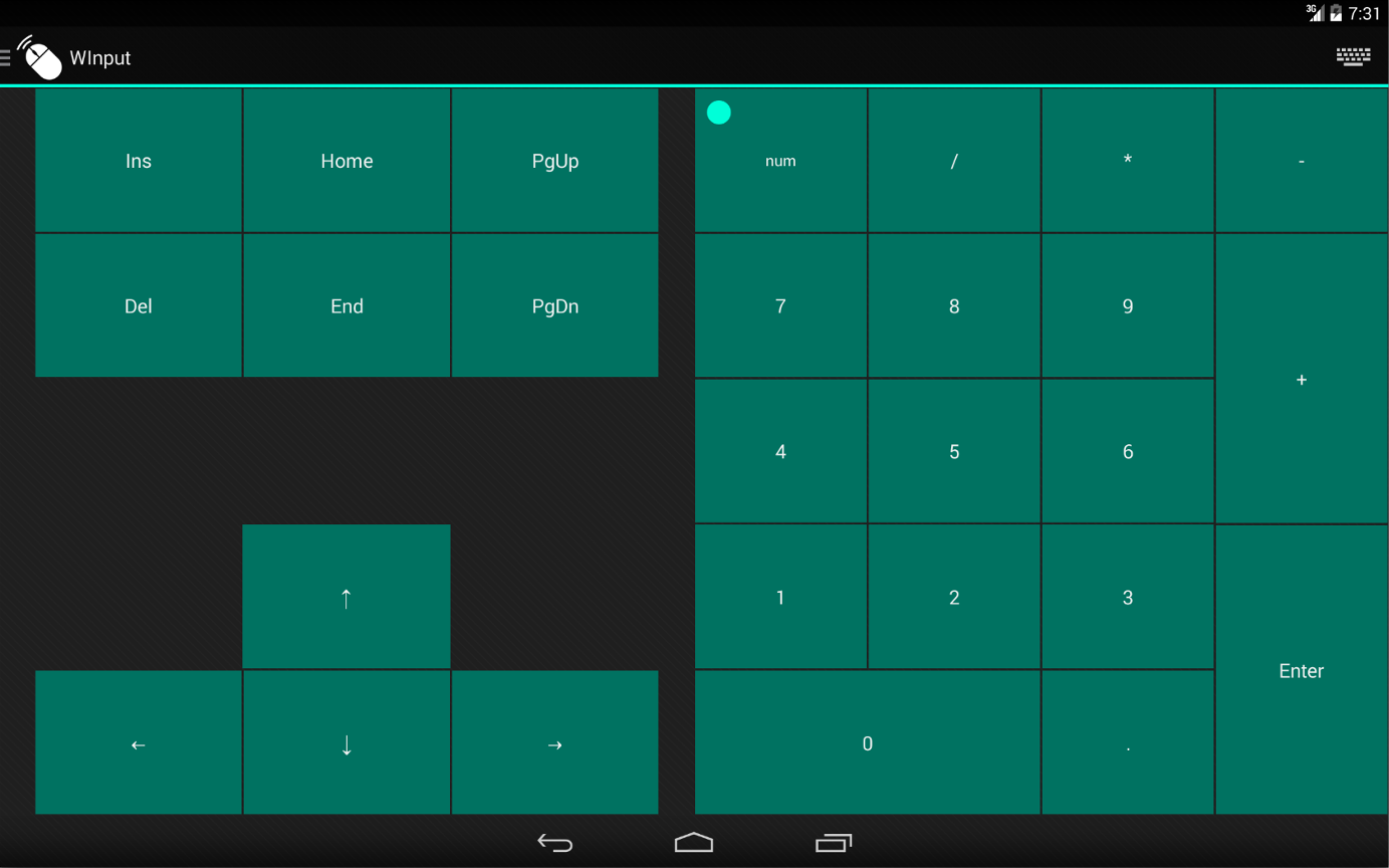 WInput - Mouse Remote Control - screenshot