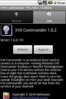 Screenshot of X10 Commander