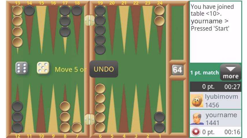 Backgammon Live Online - screenshot