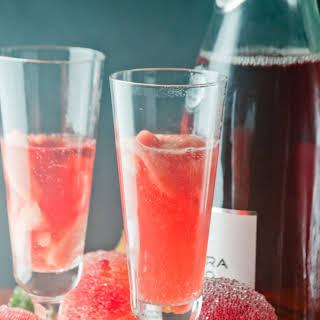 Blood Orange Sorbetto Champagne Cocktails.