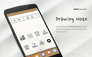 Screenshot of Drawing Note Dodol Theme