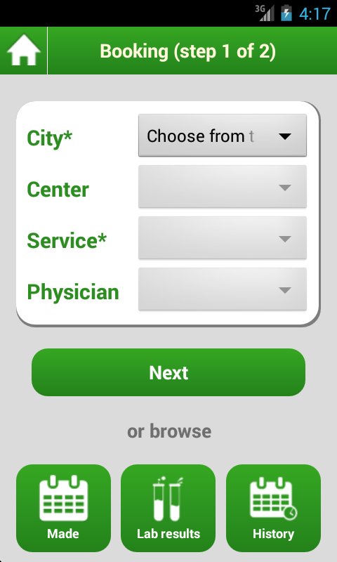 LUX MED Patient Portal- screenshot