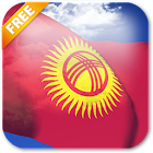 3D Kyrgyzstan Flag Live Wallpaper icon