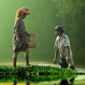 Rezeki Hari Ini by Cucu Fuang - Digital Art People ( people, photography, manipulation )