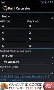 Paint Calculator - μικρογραφία στιγμιότυπου οθόνης