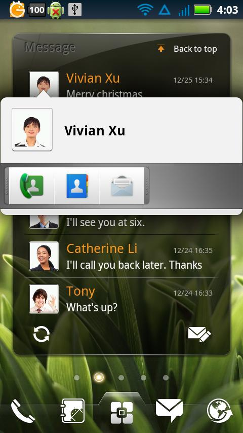EZ SMS Widget- screenshot
