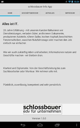 schlossbauer Info App