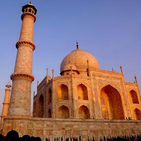 Taj @ evening............ by Chandradeep Ghosh - Buildings & Architecture Public & Historical (  )