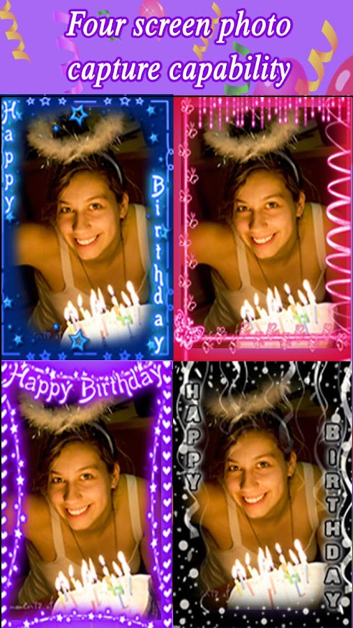 Birthday Camera - screenshot