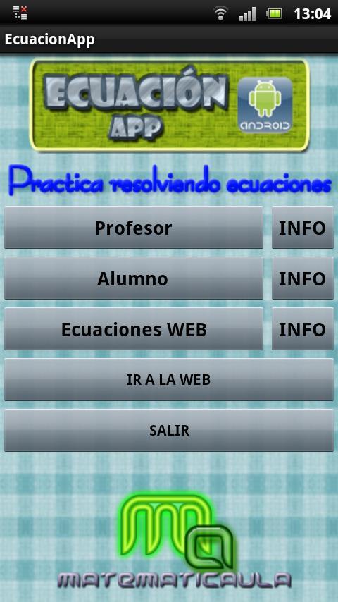 Ecuación App- screenshot
