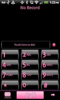 Screenshot of GO Contacts Black & Pink Theme