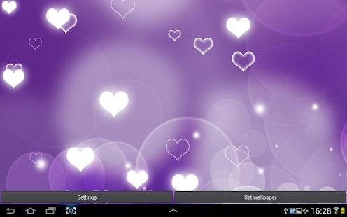紫色心 動態桌布
