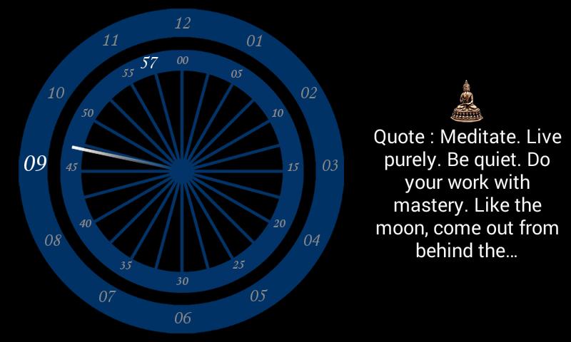Chakra clock - screenshot