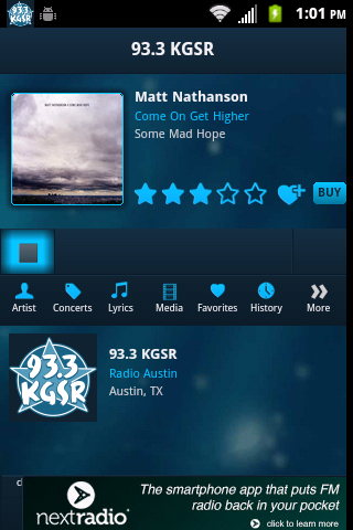 93.3 KGSR - screenshot