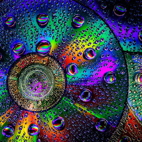 Look Close! by Steve Kazemir - Abstract Macro ( water, light painting, colors, dvd, cds, dvds, rainbow, painting, light, colours, cd )