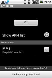 APN OnOff - screenshot thumbnail