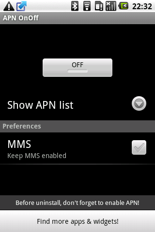 APN OnOff - screenshot