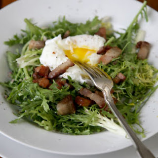 Frisée Salad with Poached Eggs and Bacon