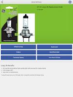 Screenshot of GE Auto Bulb Finder