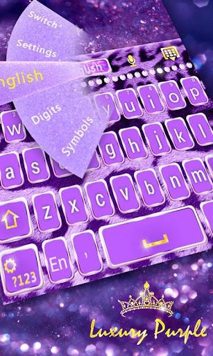 GO Keyboard Luxury Purple