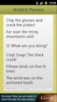 Screenshot of The Hobbit Poems