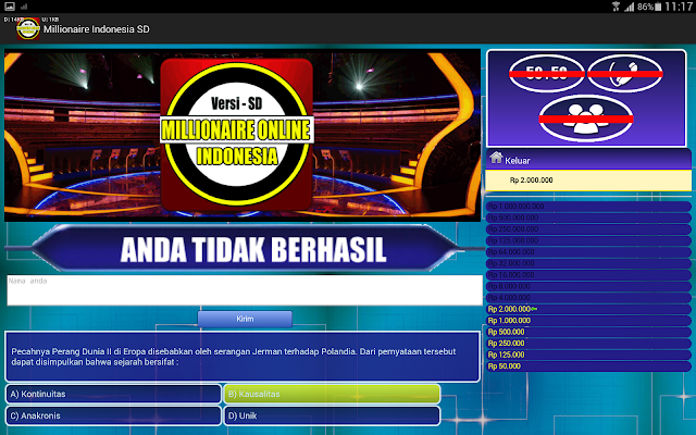 Millionaire Indonesia SD - screenshot