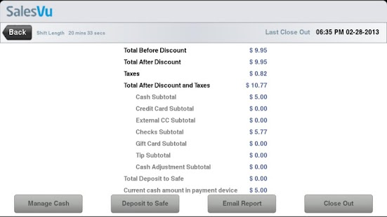 SalesVu Android POS - screenshot thumbnail