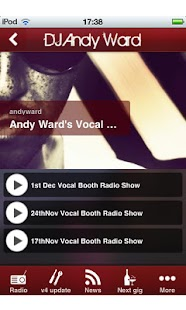 DJ Andy Ward- screenshot thumbnail