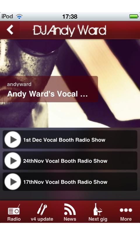 DJ Andy Ward- screenshot