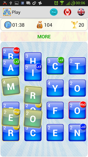 Trace Word the Ruzzle variant