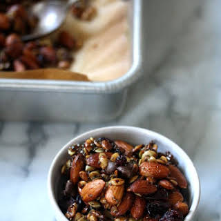 Super Seedy Trail Mix with Almonds, Chia, and Cranberries.
