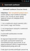 Screenshot of Angol nyelvtan