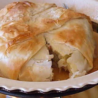 Maple- Pecan Apple Stuffed Brie.