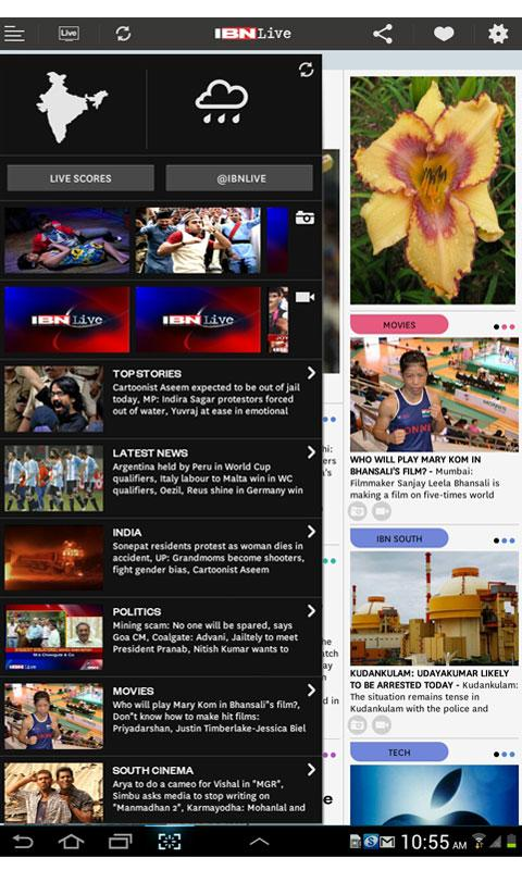 IBNLive for Android - screenshot