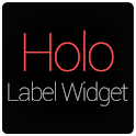 Holo Label Widget icon