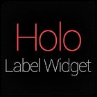 Holo Label Widget icon