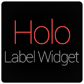 Holo Label Widget