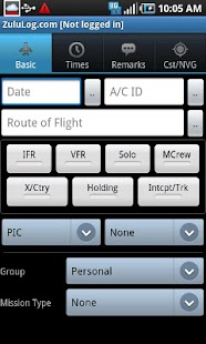 ZuluLog Pilot Logbook- screenshot thumbnail
