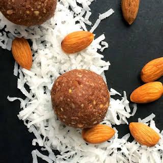 No Bake Almond Joy Energy Bites.
