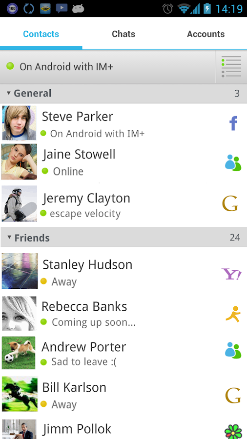 IM+ Pro- screenshot