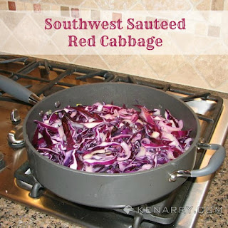 Southwest Sautéed Red Cabbage.