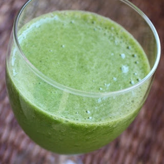 Pineapple Mango Spinach Smoothie.