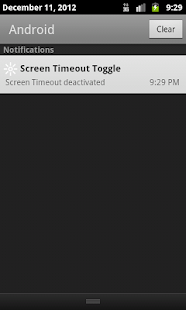 Screen Timeout Toggle - screenshot thumbnail