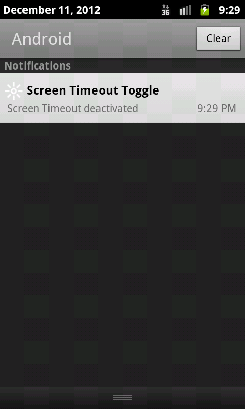 Screen Timeout Toggle - screenshot