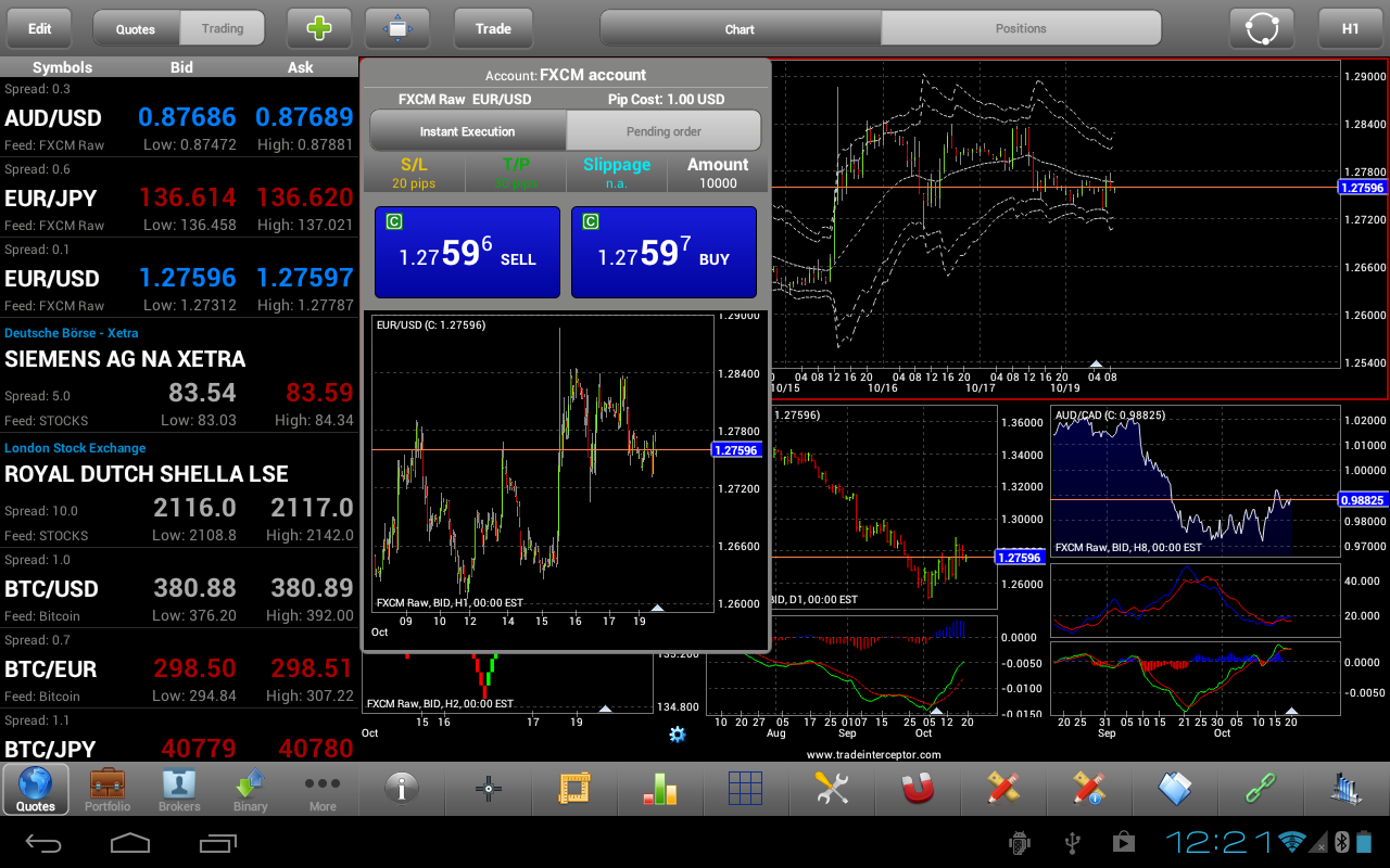 Currency trading app